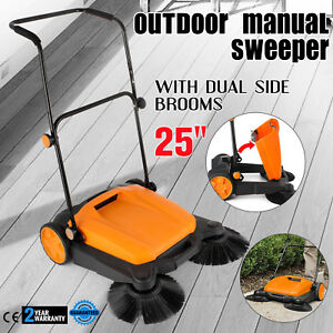 Manual Rt 650s Outdoor Push Sweeper 25 with Brooms Sweep Paths Lightweight Side