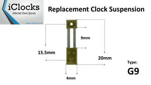 Brass French Clock Pendulum Suspension Spring 20mm X 9mm X 4mm Type G9
