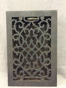 Antique Cast Iron Decorative Heat Grate Floor Register 7x11 Vintage Old 4 19d