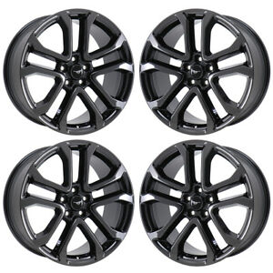 20 Ford Mustang Premium Black Chrome Wheels Rims Factory Oem Set 10167 Exchange