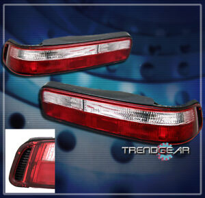 1990 1991 1992 1993 Acura Integra 2dr Altezza Tail Light Lamp Jdm Red clear Pair