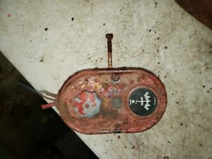 Farmall Sm Tractor Switch Box With Light Switch Amp Gauge Antique Tractor M H