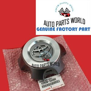 Genuine Oem Toyota 14 17 4runner Trail Silver Wheel Center Cap Hub 4260b 35080
