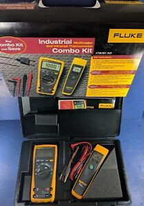New 179 61 Industrial Multimeter Infrared Thermometer Combo Kit
