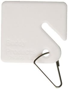 Buddy Products Blank Plastic Key Tags White Set Of 100 0017 1 pack