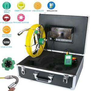 9 lcd 50m Pipe Inspection 1000 Tvl Video Camera Led Waterproof Drain Pipe Sewer