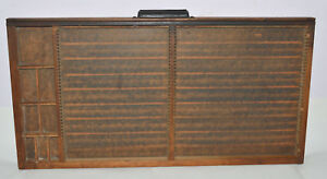 Vintage Printers Letterpress Type Drawer Full Size Adjustable With Fixed Layout