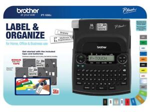 Brother P touch Pt 1890c Labeling Maker System Bonus 6 aa Batteries