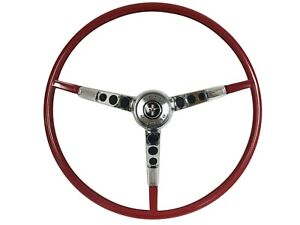 1966 Ford Mustang Reproduction Red Steering Wheel Kit Alternator