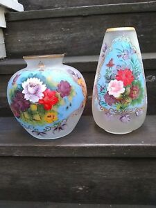 Antique Flower Glass Bowls