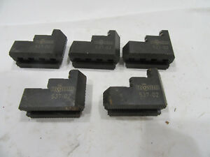 Lot Of 5 Rohm 537 02 Lathe Chuck Step Jaws Free Shipping Set Of 3 And Then 2