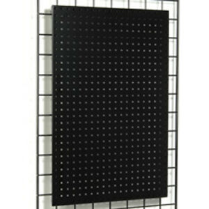 Grid Metal Pegboard Panel Magnets Peg Hooks Display Store Fixture Black New