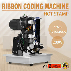 Ribbon Coding Machine Hot Stamp Food Beverage Medicine Code Printer On Sale