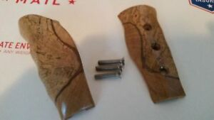 Real Hard Wood Grain Pistol Grips For Hurst New Mopar Shifter Handles Dodge Cuda