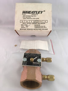 Wheatley 1 1 4 Ball Style Circuit Balancing Valve Bv 125 Threaded nos