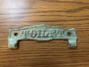 Antique Toilet Paper Toilet Cast Top Holder Plate