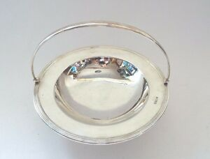 Art Deco Table Centre Solid Sterling Silver Dining Table Bowl Chester 1911