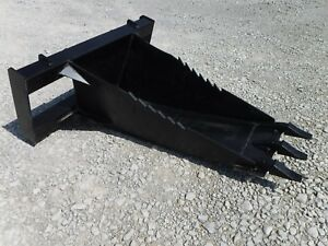 Bobcat Skid Steer Attachment Stump Bucket Extreme Duty Dig Spade Ship For 199