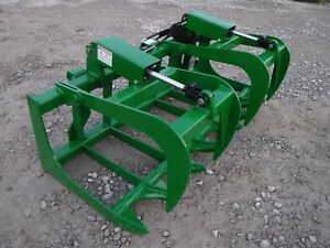 John Deere Tractor Loader 66 Dual Cylinder Root Grapple Bucket 99 Ship