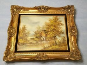Vintage Ornate Picture Frame 24 X 28 Old Gold Antique Style