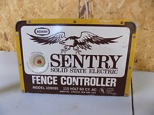 Agway Sentry Solid State Electric Fence Controller Model No 109091 Vintage Vgc