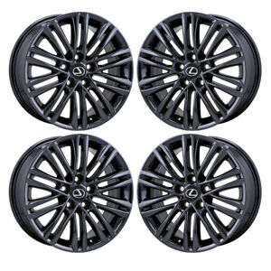 17 Lexus Es350 Black Chrome Wheels Rims Factory Oem Set 74277 Exchange