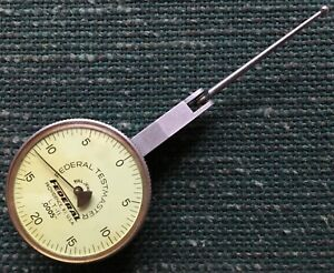 Federal Lt11 Dial Test Indicator 0005 Grads 0 20 0 Dial 1 11 16 Contact Reverse