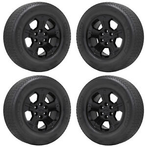 18 Silverado Tahoe 1500 Z71 Truck Black Wheels Rims Tires Factory Oem Set 5647