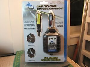 Peak Performance Car To Car Battery Charger Jump Start For 12 Volt Systems