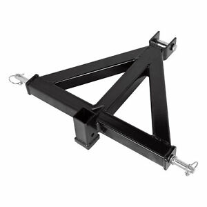 Sturdy 3 Point 2 Receiver Trailer Hitch Cat 1tractor Tow Drawbar Pull Black