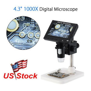 Us Professional 1080p Dm3 Hd 1000x Zoom Digital Microscope Endoscope With Stand
