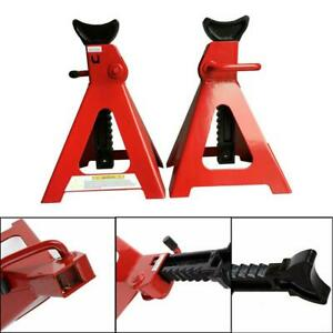 1 Pair Of 6 Ton Steel Jack Portable Truck Car Emergency Lift Stand Manual Tool