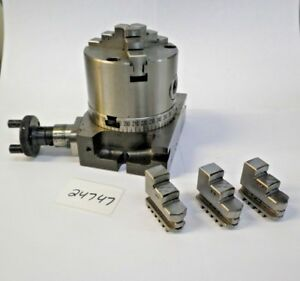 3 Rotary Table W 3 Jaw Chuck new Pic 24747