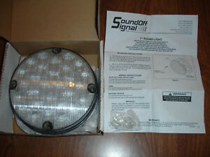 Sound Off Signal 756 Series 7 Led Backup Reverse Round Lamp Light Ecv7561b2w