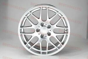 19 Hyper Silver M3 Csl Style Rims Wheels Fits 3 Series 323ci 325ci Staggered