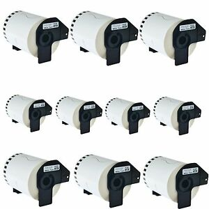 10roll Dk2243 Continuous Address Labels Frame Compatible For Brother Ql 500