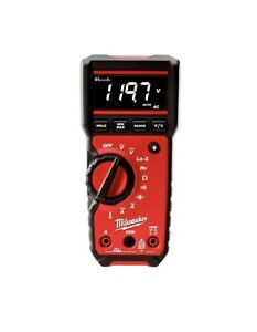 Milwaukee Digital Multimeter Audible Alert Backlit Rugged Data Log Record 600v