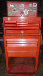 Snap On Tool Box 2 Kra 377a Kra 58b On Wheels W Keys