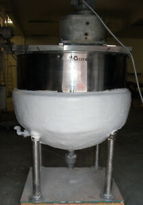 Groen Ta 300 Steam Jacketed 300 Gallon Double Motion Mix Kettle Tank With Blades