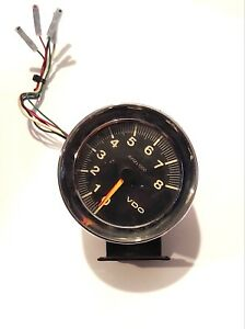 Vintage Chrome Vdo Tach Tachometer 8000rpm Hot Rod Rat Race Drag Racing Racecar