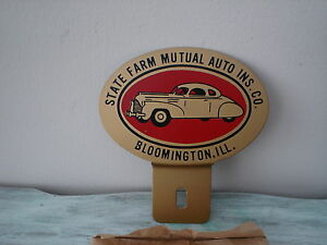 Vintage State Farm Mutual Auto Ins Co License Plate Topper New Old Stock