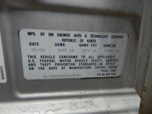 Chassis Ecm Driver Assist Low Tire Pressure Indicator Fits 08 11 Aveo 424476