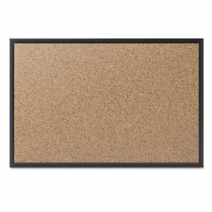 Quartet Classic Series Cork Bulletin Board 36x24 Black Aluminum Frame 2303b