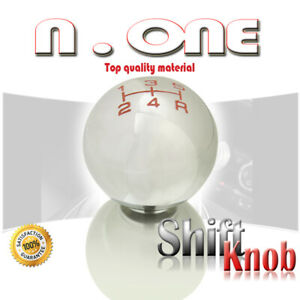 Silver 5 Speed Manual Transmission Round Car Shift Knob Lever Cover Fit Subaru
