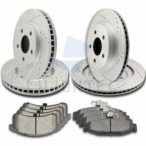 Front Rear Brake Discs Rotors And Ceramic Pads For 1994 1997 Chevrolet Camaro