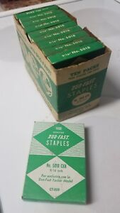 Buy It Now vtg Case Of 10 Boxes Duo Fast 5018 Cxr Staples 9 16 staplers Tackers