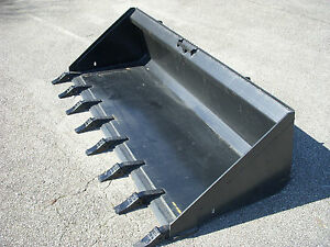 Bobcat Skid Steer Attachment 80 Low Profile Tooth Dirt Bucket Ship 199