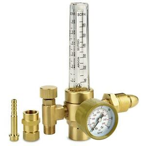 Argon Co2 Regulator Welding Gas Flowmeter For Tig Mig Brass Construction Flo