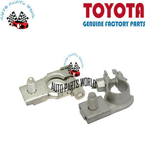 Genuine Oem Toyota 2004 2010 Sienna Positive Negative Battery Terminals Set
