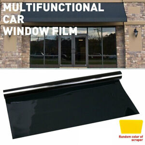 Vlt 20 Uncut Roll 24 X 50ft Window Tint Film Charcoal Black Car Glass Office